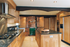 Fielded Panel Oak - modern living