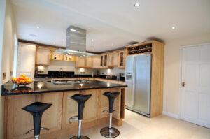 Ash Light Wood Kitchen - modern living